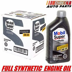 0w20 Mobil Super Fully Synthetic Motor Oil 6 Quarts In