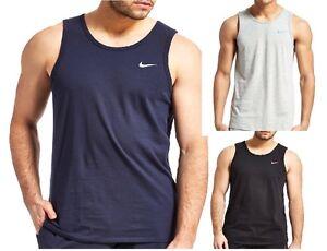 510dc30b3b45 New Men s Nike Logo Sleeveless T-Shirt Vest Tank Top Singlet - Black ...