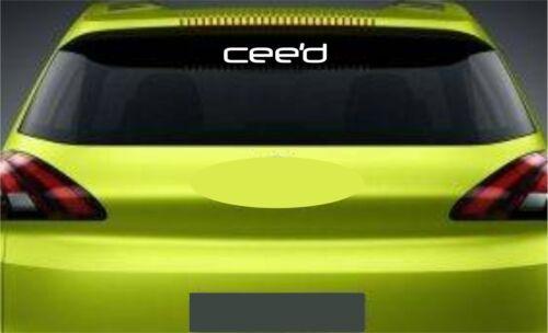 Rear Window Sticker Fits Kia Ceed Premium Qaulity Decals Graphics RL36