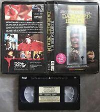 Nightmares In A Damaged Brain Pre Cert World Of Video 2000 VHS Nasty DPP