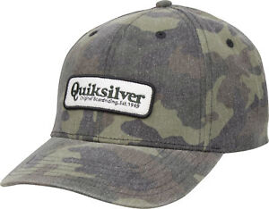 quality design 1973c 5f251 ... hot image is loading quiksilver mens bullish snapback hat camo 9ab48  13515