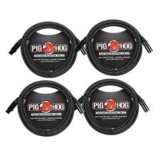 Pig Hog XLR 15 Foot 4 Pack Tour Grade Microphone Cable Pack