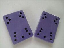 "Skateboard Riser Pads 1/2""  Old School -Muti Hole - Purple."