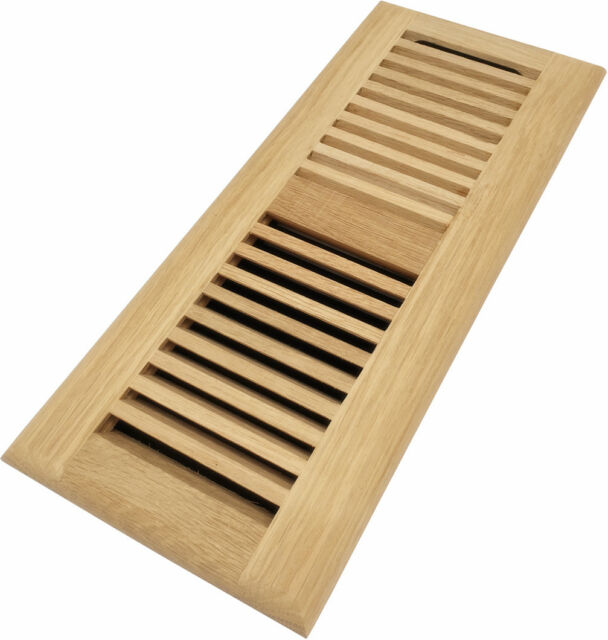 Homewell 4x12 Inch White Oak Floor Register, Drop In Vent ...