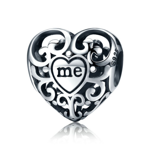 Fashion 925 Sterling Silver Charm CZ European Jewelry Bead For Bracelet Necklace