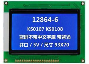 128x64-5v-Dot-Matrix-COG-Graphic-LCD-Module-Display-LCM-w-KS0107-KS0108