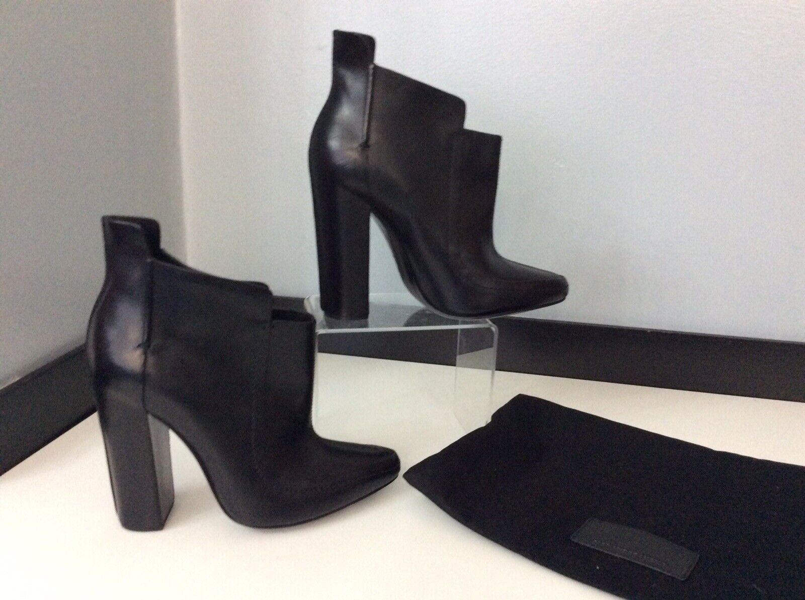 Alexander Wang Nuevo Negro Cuero Tobillo Tobillo Tobillo botas Talla 38 Reino Unido 5 BNWOB  servicio de primera clase