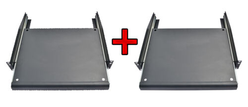 "2 PCS 19/"" Rack Mount ADJUSTABLE Pull-Out Sliding Keyboard Mouse Shelf Tray"