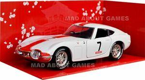 TOYOTA-2000-GT-1967-13-cm-in-miniatura-Diecast-Auto-giocattolo-in-miniatura-DIE-CAST-Bianco