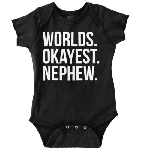 Gift for Nephew Worlds Most Okay Great for Boys Aunty /& Uncle Romper Bodysuit