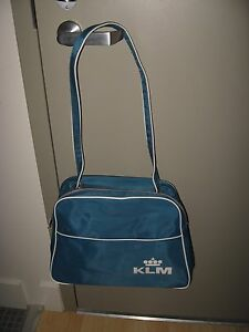 KLM-Travel-Bag-Vintage-Royal-Dutch-Airlines-Souvenir-Airplane-Shoulder-Pack