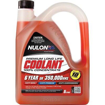 Nulon Concentrate Red COOLANT Long Life Anti-Freeze Anti-Boil 5 Litre