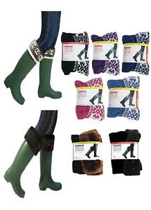 Ladies Anucci Fleece Wellington Boot