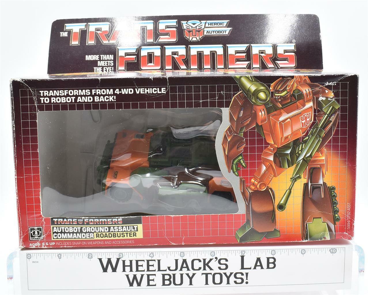 Roadbuster MIB 100% Complete C 1985 Vintage Hasbro Action Figure G1 Transformers