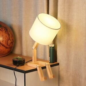 Haitral Creative Desk Lamp Cute Table Lamps With Wooden