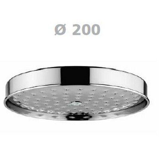 """2001 Soffione tutto in ottone Ø 200 mm. Attacco 1 2"""" SASSI"""