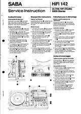 Saba Original Service Manual für ULTRA HiFi-Studio 9800 stereo