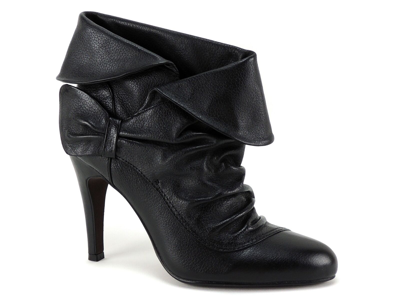 Informe para mujer mujer mujer botas al tobillo de Britt Plegable De Cuero Negro Tamaño 7 M  70% de descuento