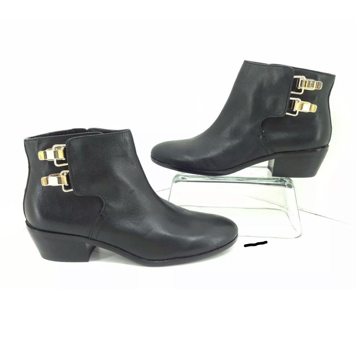 8fd1fffa7 Sam Edelman New Marmont Black Leather Boots Size 7 M Heel Booties  ntagln2831-Women s Boots