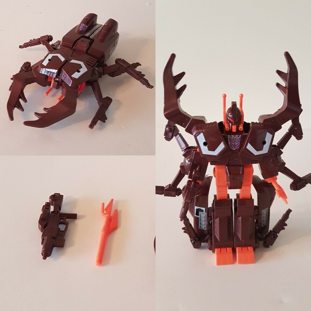 1985 TRANSFORMERS G1 INSECTICON CHOP SHOP COMPLETE