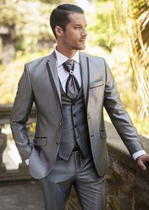 New  Mens Suits Groom Tuxedos Best Man Groomsmen Wedding Suits Business Blazers