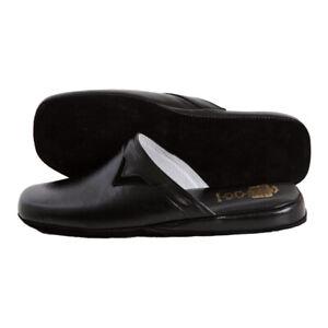 Pantofole Uomo Vera Pelle Totale   Ciabatte Made in Italy Fatte a Mano Classiche