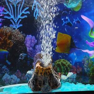 Aquarium-Deko-Luftausstroemer-Ausstroemer-Vulkan-Blaseneffekt-Luftblase-Stein-Hot