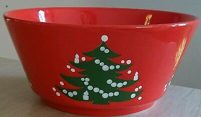 Waechtersbach Christmas Tree Straight Edge Serving  Bowl * Retired * Germany