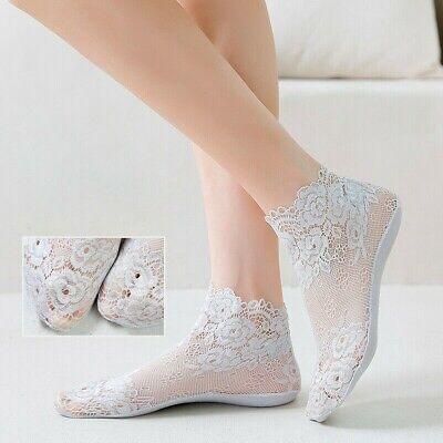 Damen Spitze Söckchen Socken Rüschen Prinzessin Mädchen NEU Nette R1A7