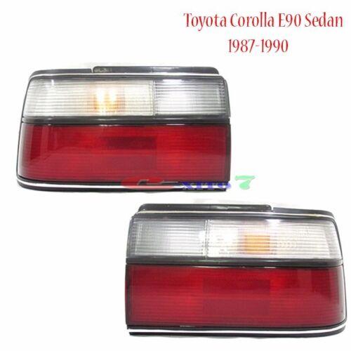 New Toyota Corolla SE AE90 EE90 E90 87-91 Sedan Kouki Tail Lamp Lights 1-Pairs