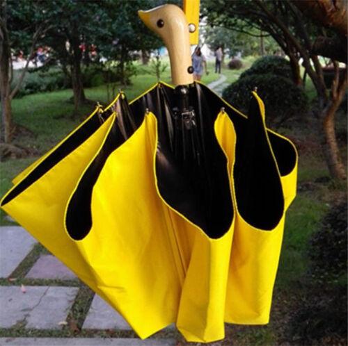 Korea Duck Mouth Rainy Sun Umbrella Handle Cartoon Umbrella Foldable 8 Bones