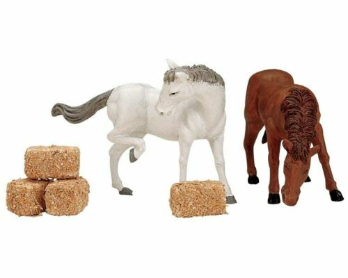 Lemax Village Feed for the Horses 12511 Set of 6 Accessory