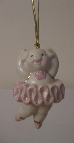 LENOX Pig Pirouette Ornament Pink Wings Pig Ballerina BRAND NEW