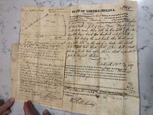 Antique Land & Deed Governor NC Fl John Grant 1819 William Roane Signature
