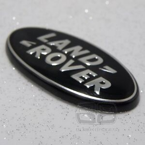 Land rover black//silver front//rear emblems fits discovery 4 freelander 2 3