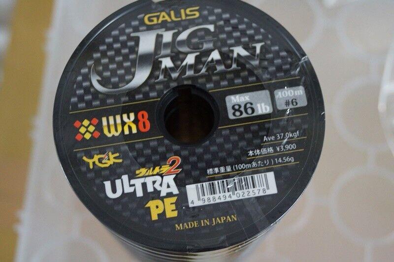 YGK GALIS ULTRA jigman WX8 polyéthylène 1200 M 86 LB (environ 39.01 kg)  6