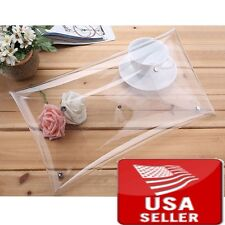 Transparent PVC Stylish Purse Clear Handbag Clutch Envelope Bag Large Pretty