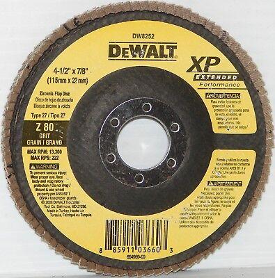 "DW8309 DeWALT 4-1//2/"" x 7//8/"" 80g Type 29 HP Flap Disc"