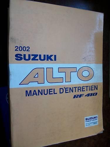 Suzuki ALTO RF410 2002-2003 manuel d/'atelier