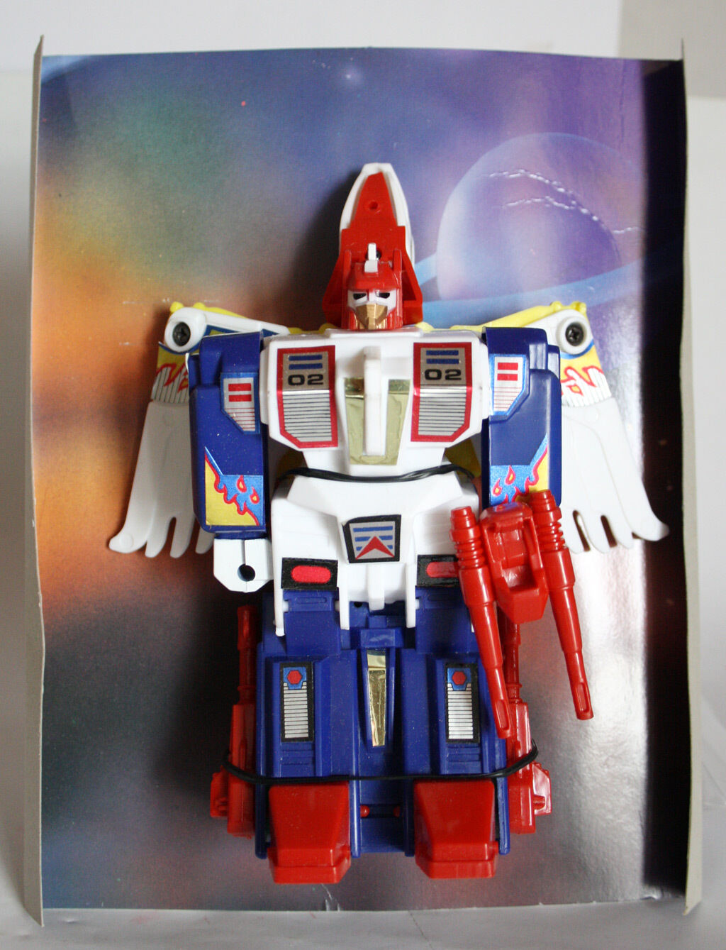 1980'S VERY RARE VINTAGE TRANSFORMABLE EAGLE WARRIOR FRICTION FRICTION FRICTION ROBOT nuovo MIB   f67d38