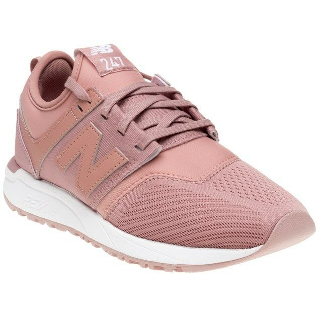 New Womens New Balance Pink 247 Nylon Trainers Retro Lace Up