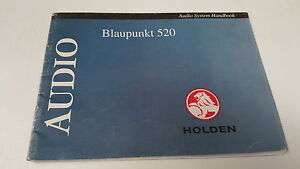 1990s holden car radio owners manual blaupunkt 520 ebay rh ebay com au blaupunkt 520 service manual