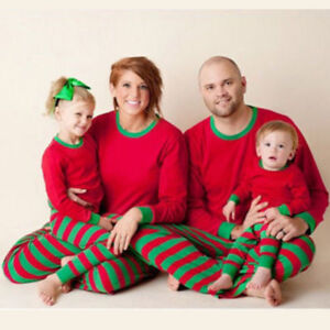 d586f7023c Image is loading Family-Matching-Christmas-Pajamas-Set-Xmas-Sleepwear- Outfits-