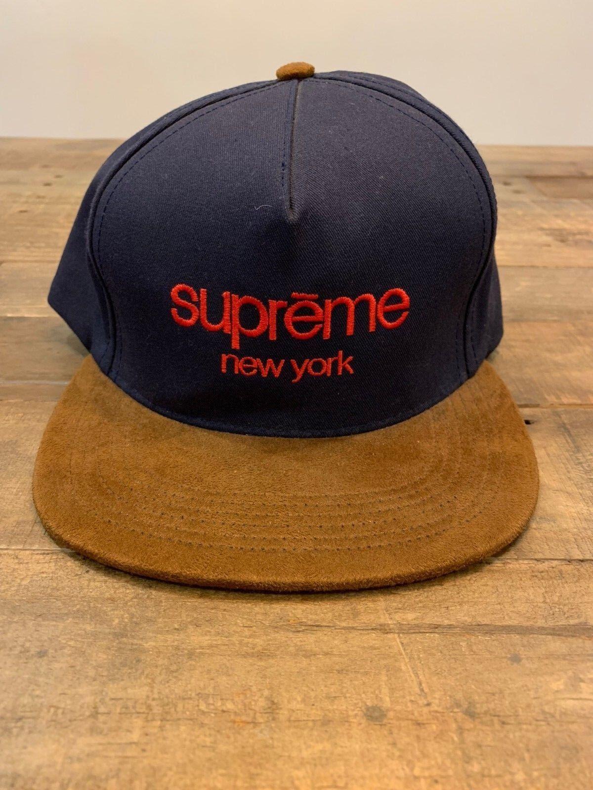 Supreme Adjustable hat navy red
