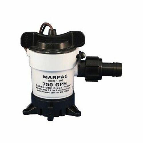 Marpac 750 GPH Bilge Pump 12 Volt Heavy Duty 32701M Marine  MD