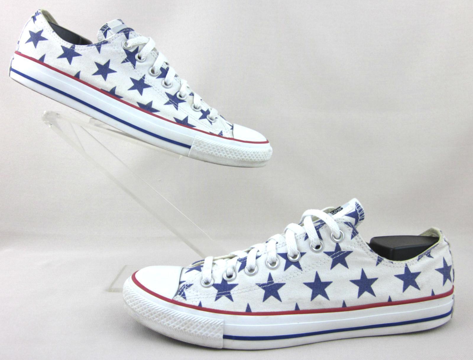 Converse All-Star Chuck Taylor Low Top Turnschuhe Multi Star Print 10 Fits 10.5-11