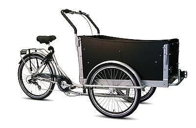 Bakfiets Troy KinderTransportrad Lastenrad 7 G Shimano Kettenschaltungsilber