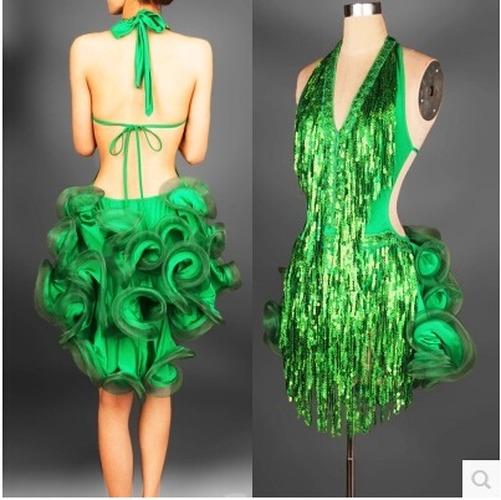 Latin Dance Dress Professional Fringe Samba Costume Competition Dresses Tassel