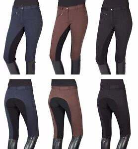 102290-PFIFF-THEA-Damen-Reithose-Vollbesatz-Reiterhose-elastischer-Beinabschluss