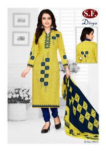Unstitched Indian Only Dress Material Salwar Kameez Crepe Punjabi Suit Synthetic